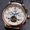 Fashion FORSINING Watch Men Multifunction Dials Tourbillon Men's Wristwatch Stainless Still Watches for man Male Gift W181602
