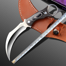 2016 Horn handle Hunting Claw Knife 59HRC Silk Survival Fixed Blade Knife Camping EDC Tools