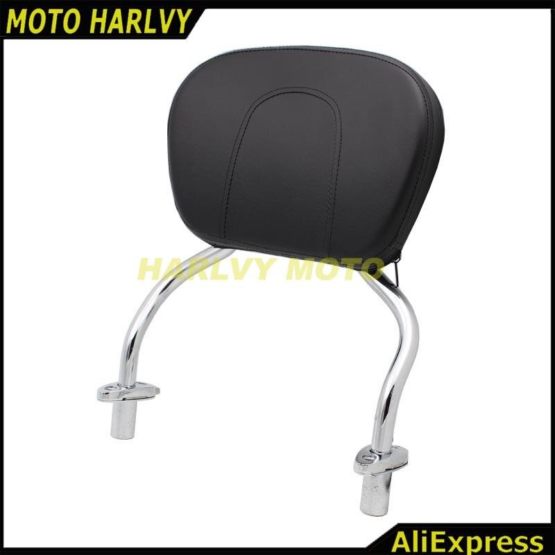 Chrome Detachable SissyBar Pad Backrest For Harley FLRT Freewheeler 2015-2017
