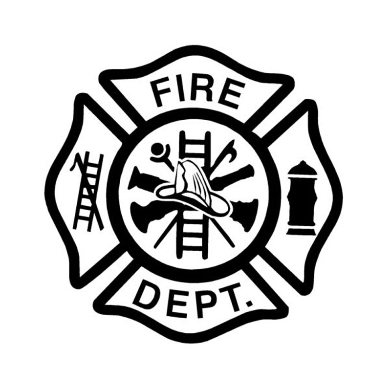 13.9CM*13.9CM Personalized fashion Fire Dept To Remind TCar Body Styling Stickers C5-0959