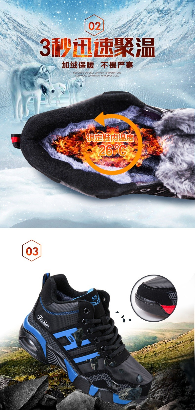 New arrival plus size 36-45 autumn winter snow boots thick plush ankle boots for women high quality warm casual shoes botas
