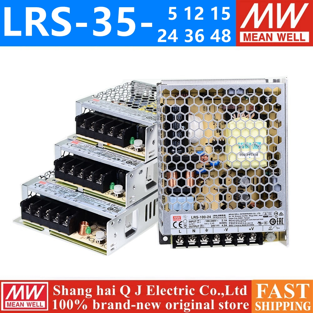 MEAN WELL LRS-35-12 5V 12V 15V 36V 48V meanwell LRS-35 <font><b>5</b></font> 12 <font><b>15</b></font> 24 36 48 V 35W Single Output Switching Power Supply image