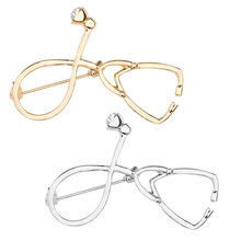 New Fashion Doctor Nurse Stethoscope Needle Brooch Rhinestone Gold Silver Female Mens Metal Jewelry