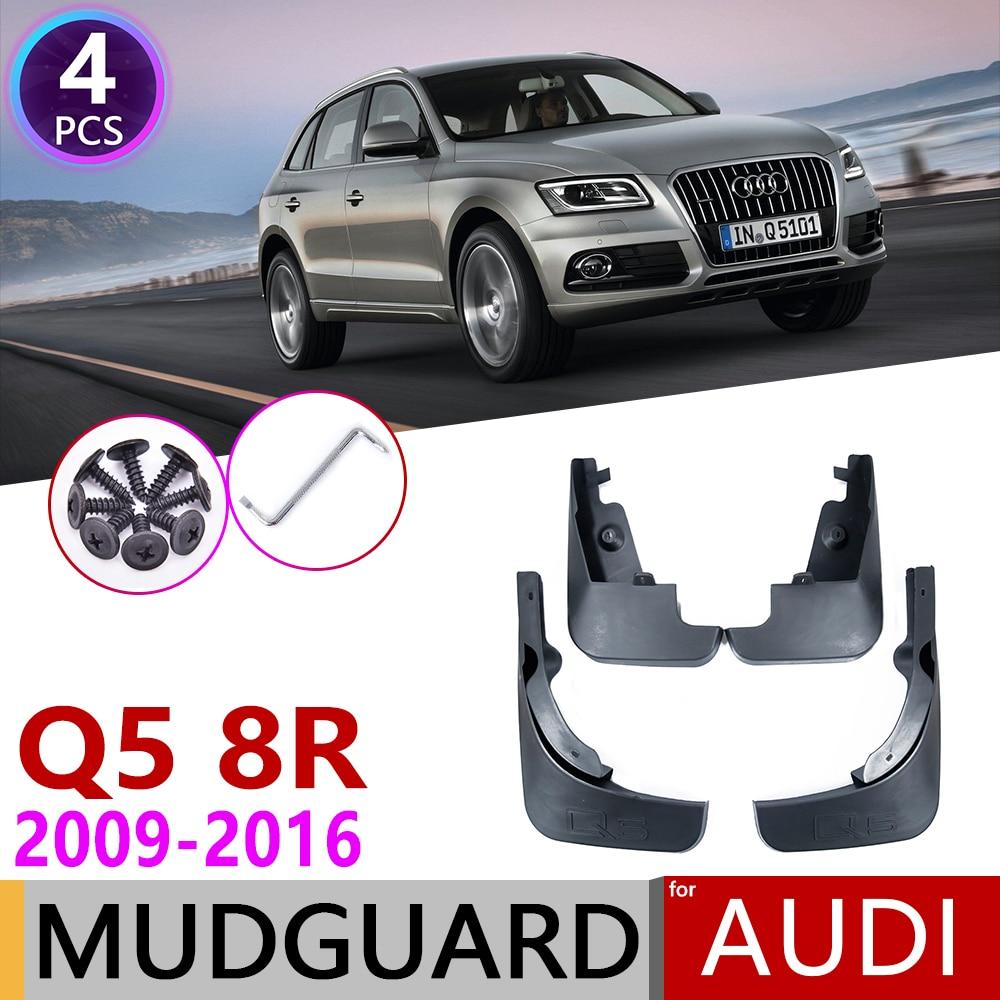 4 PCS Mudflap For Audi Q5 2009~2016 8R Fender Mud Flaps Guard Splash Flap Mudguard Car Accessories 2010 2011 2012 2013 2014 2015