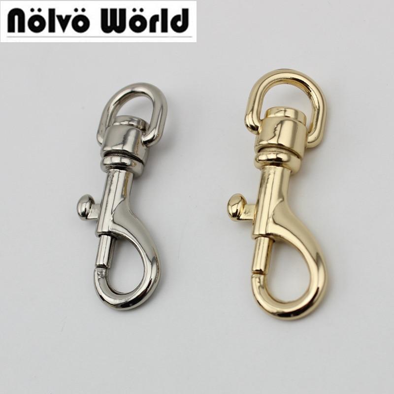 30pcs High Quality 11mm 4 Colors Purse Adjusted Strap Rigger Snap Hook Clasp Metal Clip Swivel Dog Leash Hardware Diy