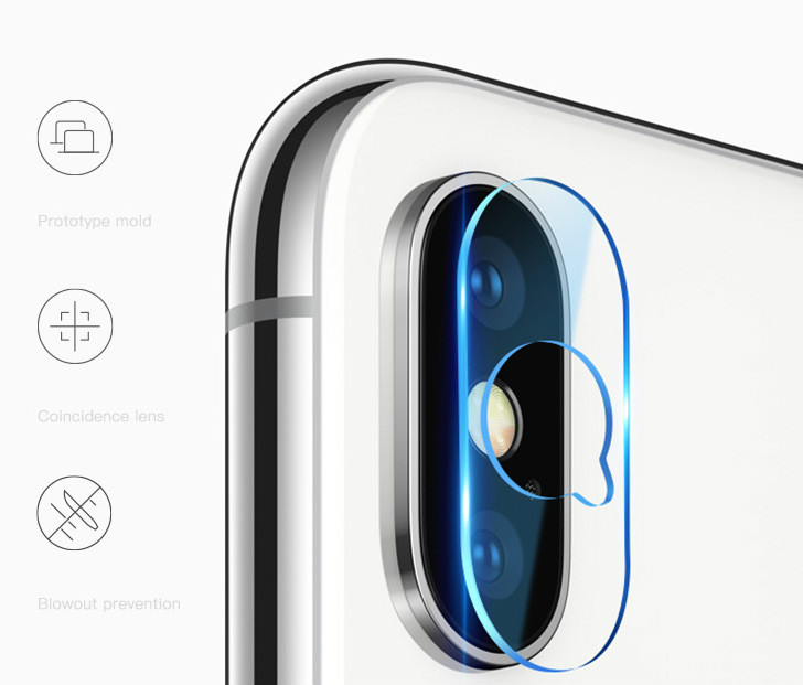 For IPhone X Lens Tempered Protective Film Camera Lens HD Film