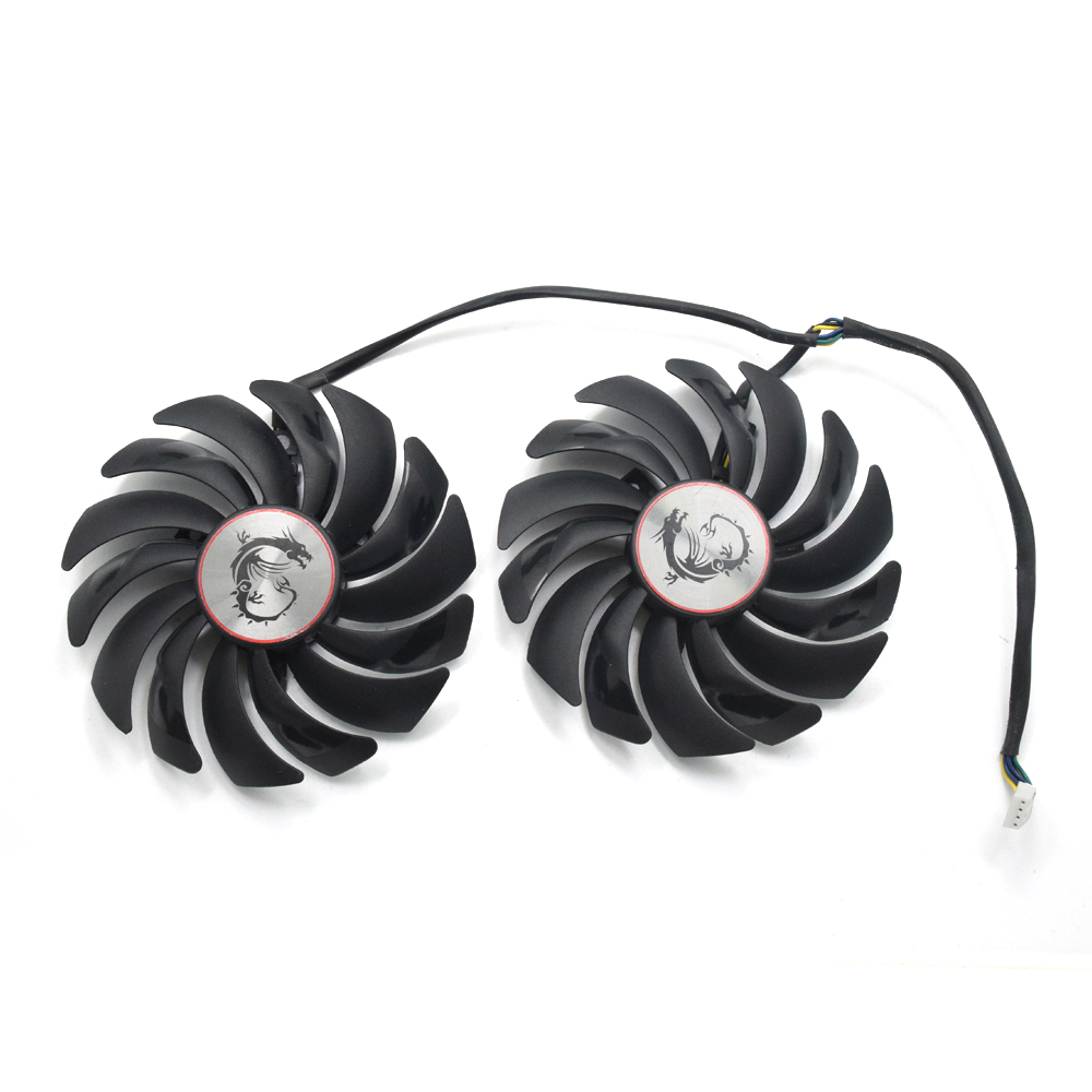 95mm Cooler Fans 2pcs/lot RX580 RX480 Video Card cooling fan For Radeon RX 480 MSI RX 580 asic bitcoin mine GPU Graphics Card