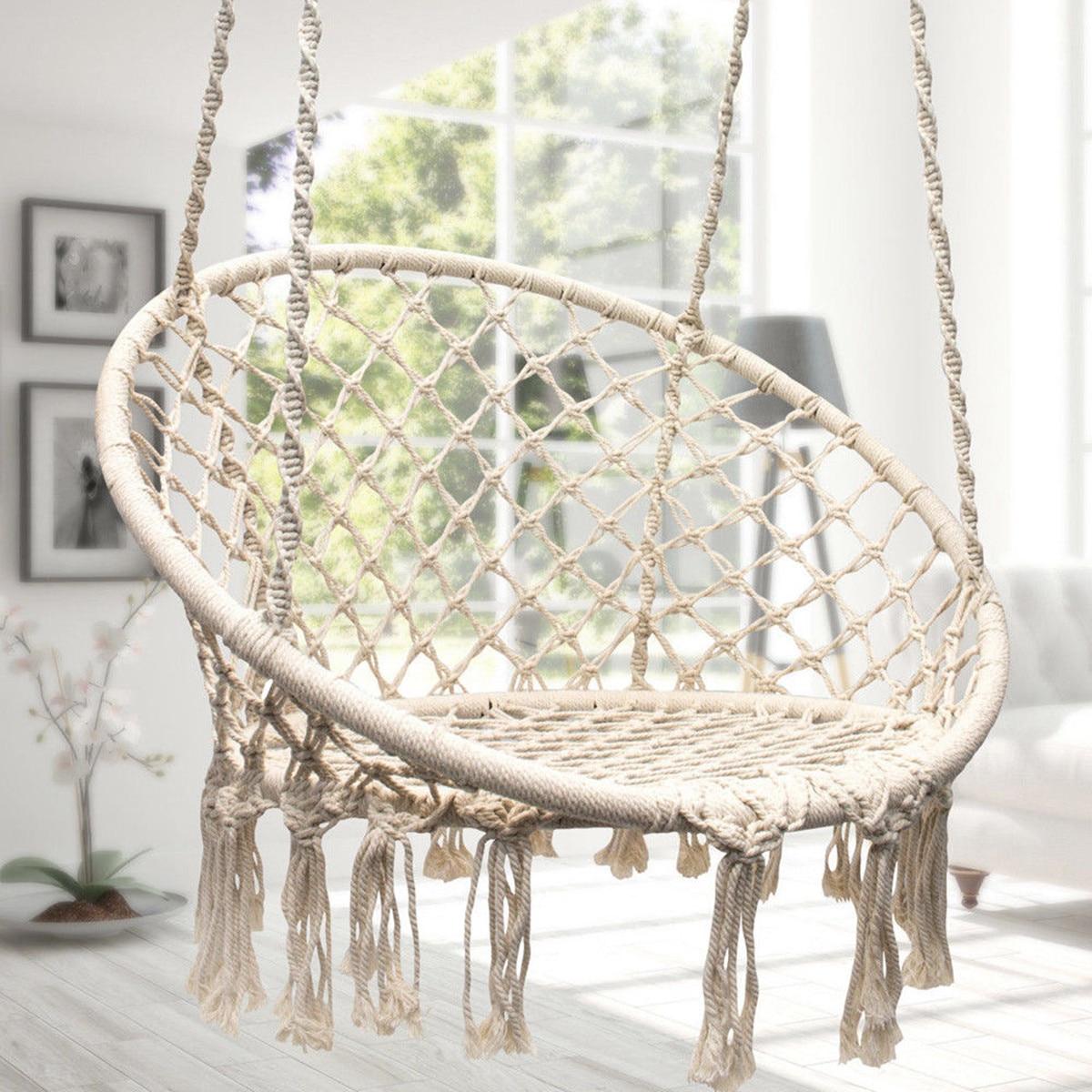 Nordic Round Hammock Outdoor Indoor Hammocks Chair Dormitory