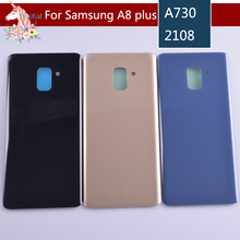 For Samsung Galaxy A8+ A8 plus 2018 A730 A730F A730DS Housing Battery Cover Door Rear Chassis Back Case Housing Glass Replacemen full cover tempered glass for samsung galaxy a8 2018 a730 a730f a730f ds duos plus a8 plus screen protective black display case