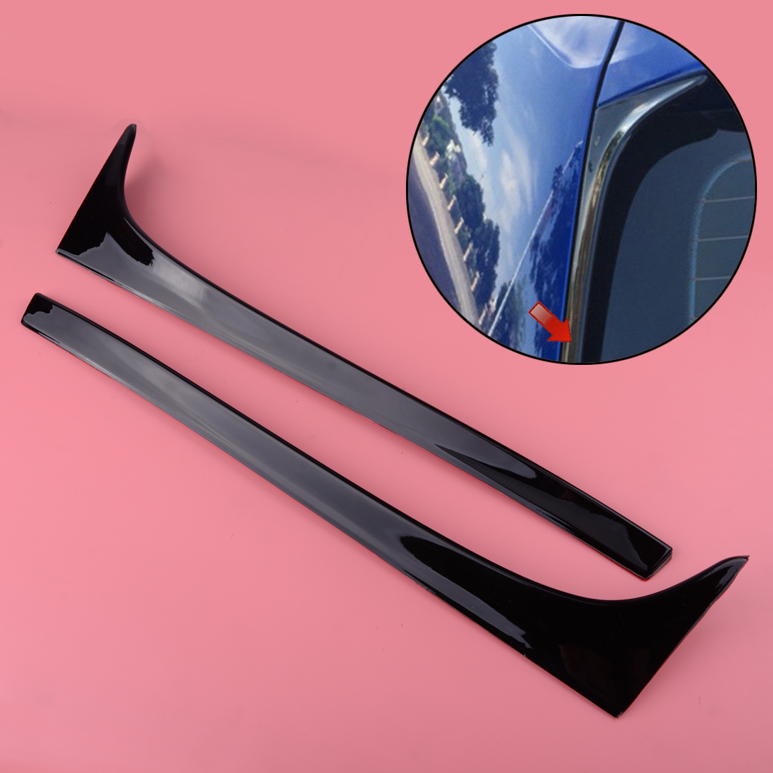 DWCX 2Pcs Car Plastic Rear Window Side Spoiler Wing Fit For VW <font><b>GOLF</b></font> MK7 MK7.5 <font><b>R</b></font> GTE GTD image
