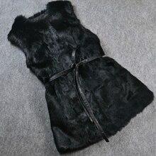 Новое поступление, женская мода,, чистый кроличий мех, жилет из натурального меха, жилет из натурального меха KFP738
