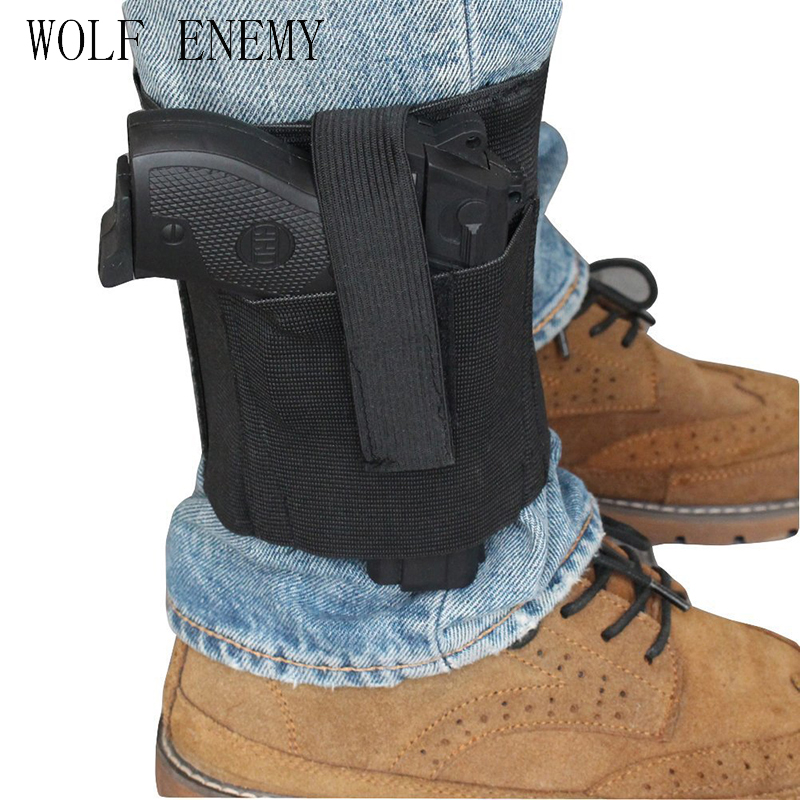 Concealed Universal Black Carry Ankle Leg Pistol Gun Holster LCP LC9 PF9 Small for sig 223 SCCY 9mm gun