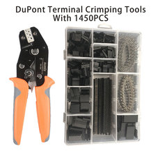 цена SN-28B 1450PCS terminals clamp kit dupont crimping tools Ratchet TAB Terminal crimper pliers  Insulated Pin crimping tool в интернет-магазинах