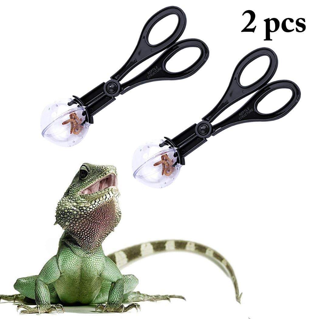 Practical Reptile Terrarium Lizards Plastic Tongs Tweezers font b Pet b font Raising Feeding Tool Clip