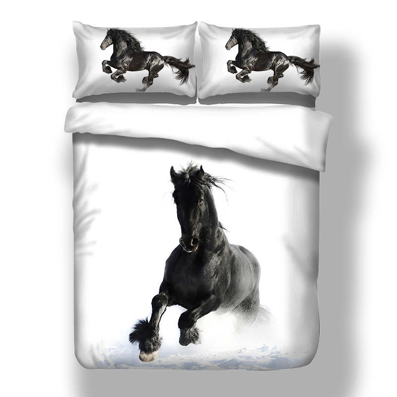 Hot Sale Horse Bedding Set Twin Full Queen King Uk Double Size