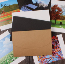 Simple Thick Cardboard 20pcs/lot Black White Craft Paper Envelopes Vintage European Style Envelope For Card Scrapbooking Gift
