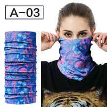 Фотография Magic Chinese wind color changeable scarf polyester Jersey turtleneck collar ribbon outdoor cylinder cloth towel