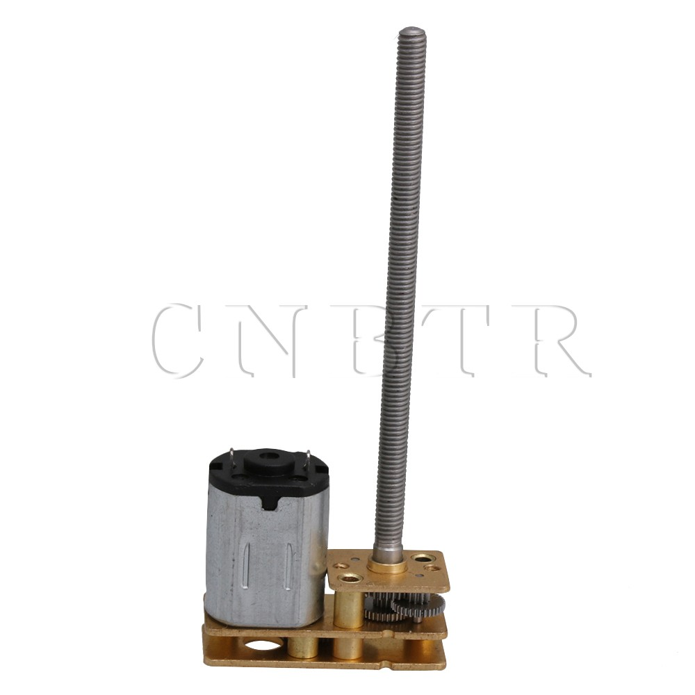 CNBTR DC12V 60RPM 1:298 Reduction Micro Speed Reduction Motor Mini Gear Box with 2 Terminals for Lift Landing Gear papr reduction