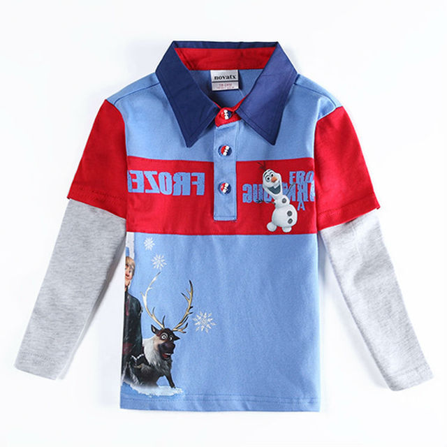 fashion t shirt for baby boys children boys autumn/spring long sleeves t shirt 100% cotton clothes for kids enfant