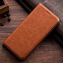 Vintage Leather Case For Oukitel C8 Luxury Mobile Phone Retro Flip Cover Leather Case & Kickstand Function