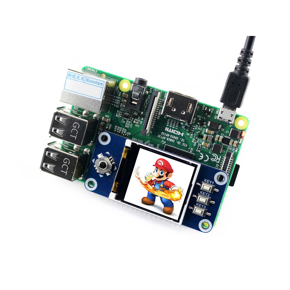 Image 2 - Waveshare 1.44inch LCD display HAT for Raspberry Pi 2B/3B/3B+/Zero/Zero W,128x128 pixels,SPI interface,ST7735S driver-in Demo Board from Computer & Office