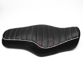 1pcs Big Seat Motorcycle Black PU Leather Driver+Passenger Touring Seat 2 Up For Harley Sportster XL883 1200 48 72 2010-2016