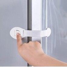 10Pcs/lot Safety Locks Infant Safety Lock Security Blocker Padlock Baby Safe Protection Fridge Cabinet Doors Drawers