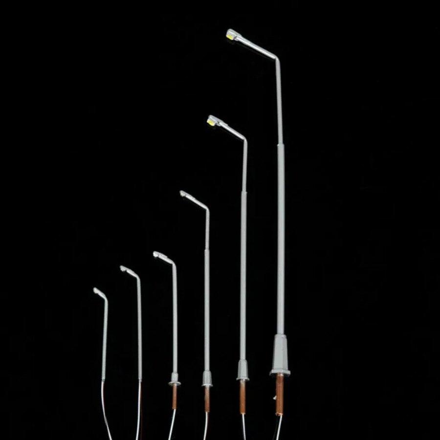 100pcs model train railway lamps 1 500 scale 3cm high miniature led 3V street copper light