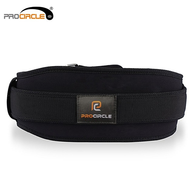 ProCircle Nylon Weight Lifting Belt Powerlifting Belts Fitness Protector Lower Back Support Bodybuilding Gym Accessories