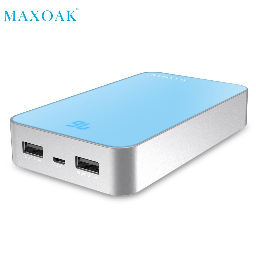 MAXOAK 13000mAh Dual USB Charging Power Bank External Battery Charger Portable PowerBank for Mobile phone