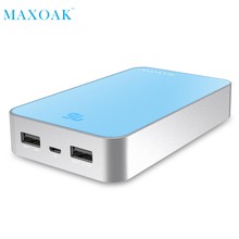 MAXOAK 13000mAh Dual USB Charging Power Bank External Battery Charger Portable PowerBank for Mobile phone