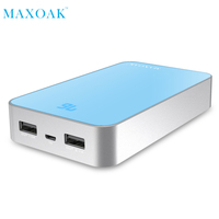 MAXOAKportable Phone Battery Charger Output DC 5V 2 1A 13000mAh Double USB External Phone Battery For