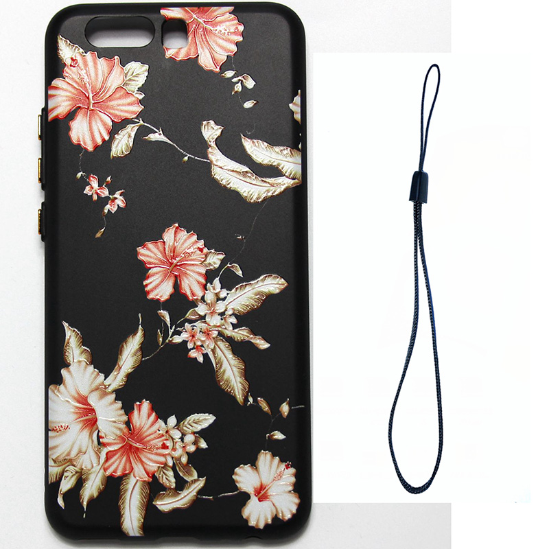 3D Relief flower silicone  case huawei p10 (10)
