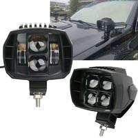 2X 40W Led Work Light For Jeep Wrangler Driving Lights High Low Beam 12V 24V 4x4 Offroad Boat Truck SUV ATV Motorcycle Headlight