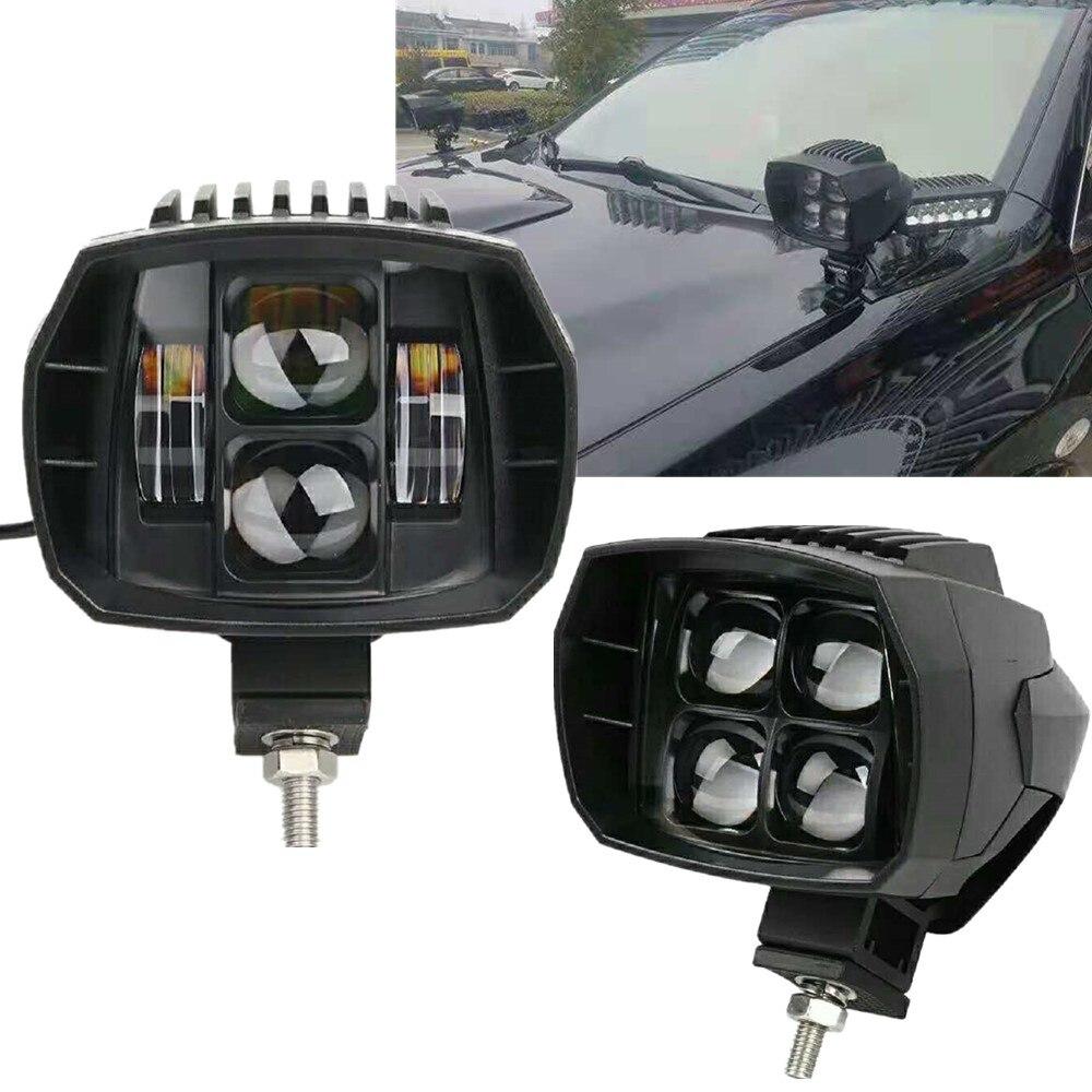 2X40 W Led lampe de travail pour Jeep Wrangler feux de route feux de croisement 12 V 24 V 4x4 Offroad bateau camion SUV ATV moto phare