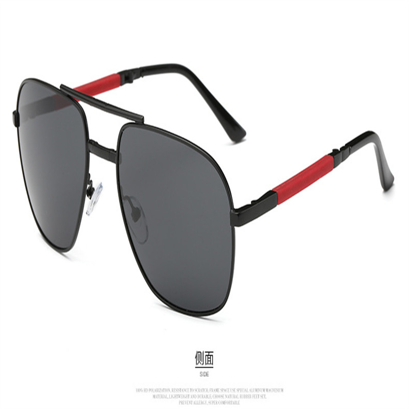 Image 2 - Olvio Vintage Folding Pilot Sunglasses Men Polarized Fashion Brand Designer Foldable Glasses Mirrored Sun Glasses For Men Oculos-in Men's Sunglasses from Apparel Accessories