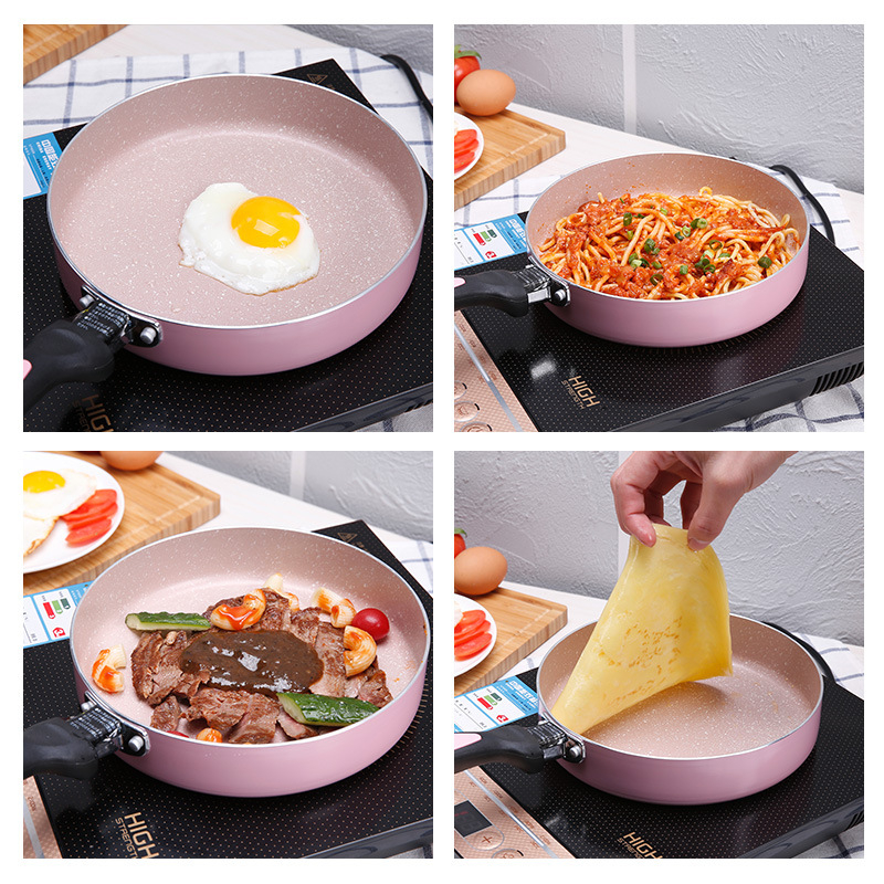20CM Medical Stone Pan Fried Beef Steak General Usage For Gas Stove Wok Non-stick Frying Pans Frying Multi-purpose Kitchen