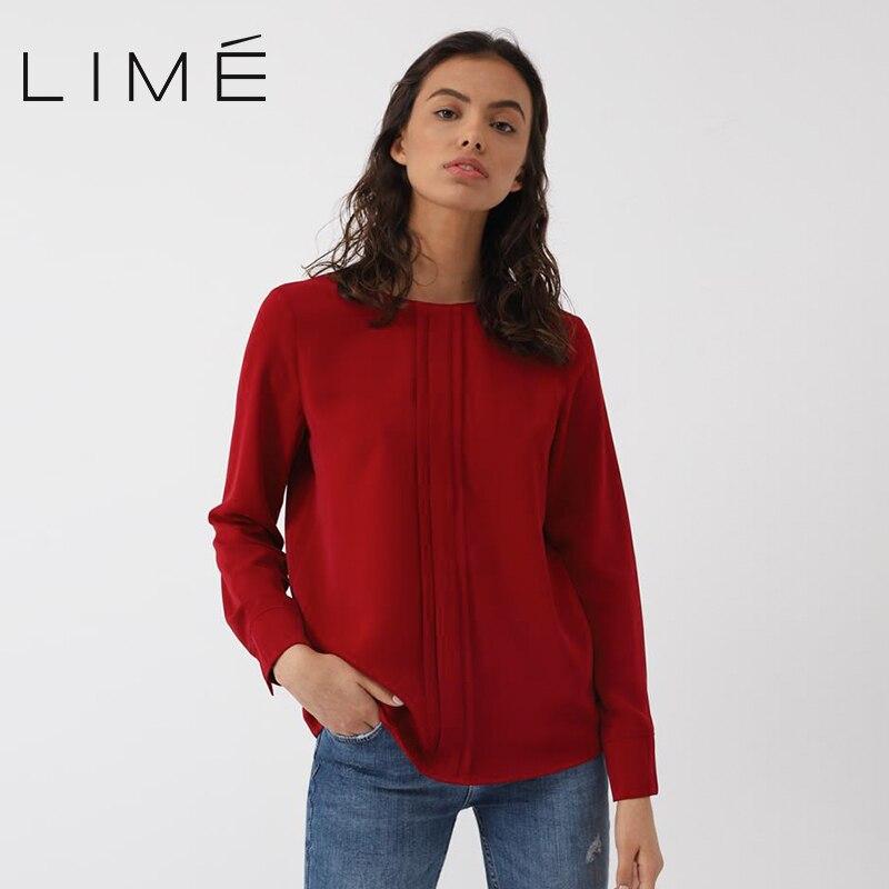 Фото - Blouse LIME woman 253|3495|125 contrast lace keyhole back blouse