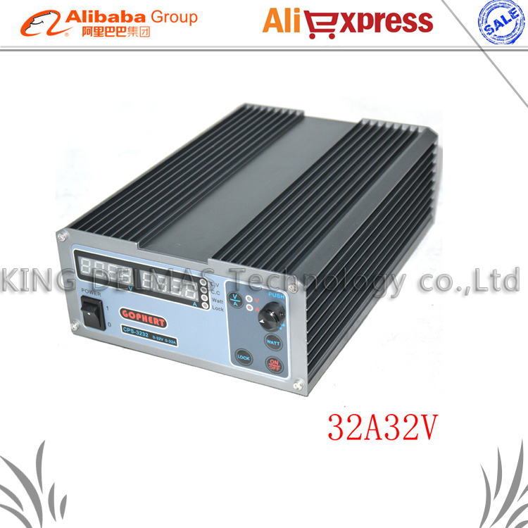 New upgrade Compact Digital Adjustable DC Power Supply OVP/OCP/OTP MCU Active PFC 32V32A 170V-264V + EU + Cable cps 6003 60v 3a dc high precision compact digital adjustable switching power supply ovp ocp otp low power 110v 220v
