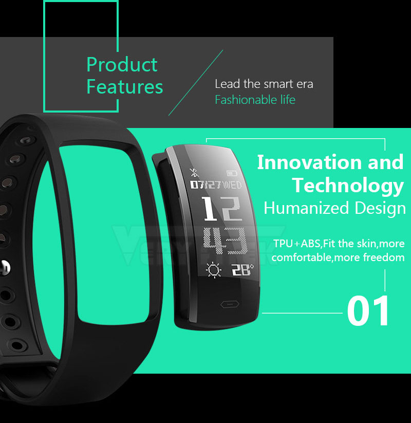 VERYFiTEK V12 Fitness Bracelet IP67 Life Waterproof  Smartband Heart Rate Blood Pressure Oxygen Monitor Smart Wristband Tracker (6)
