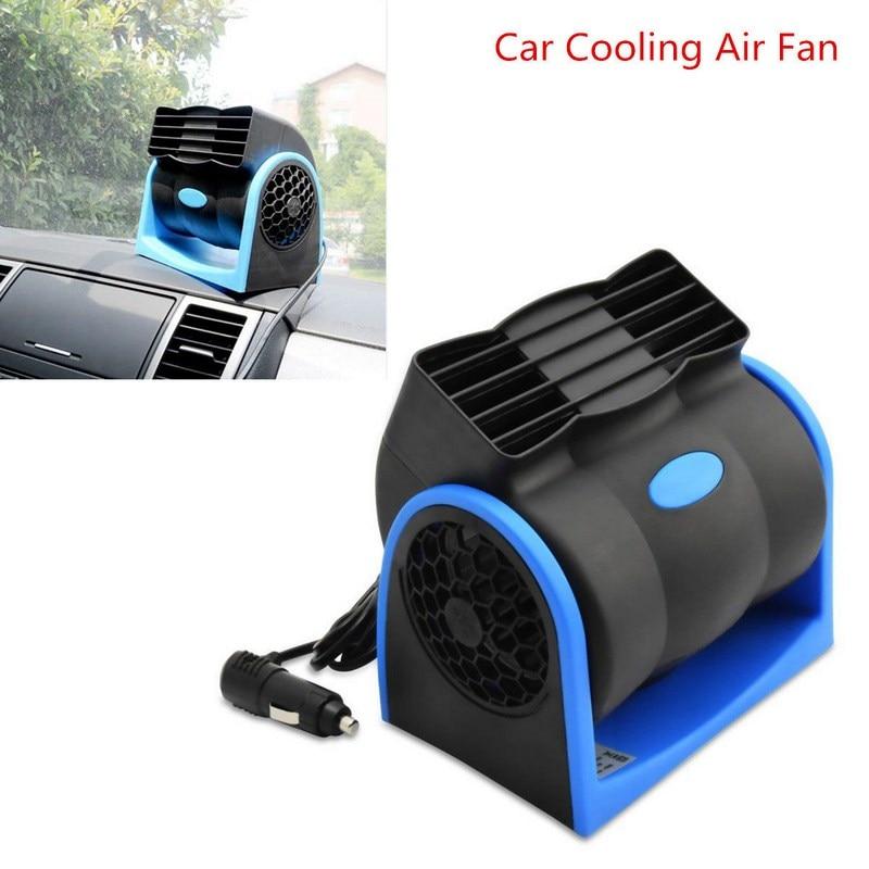 Gtest Portable Car Bladeless Fan Air Cooling Fan Conditioner Low Noise Desktop Cooler for Vehicle Truck Boat Fan,12v