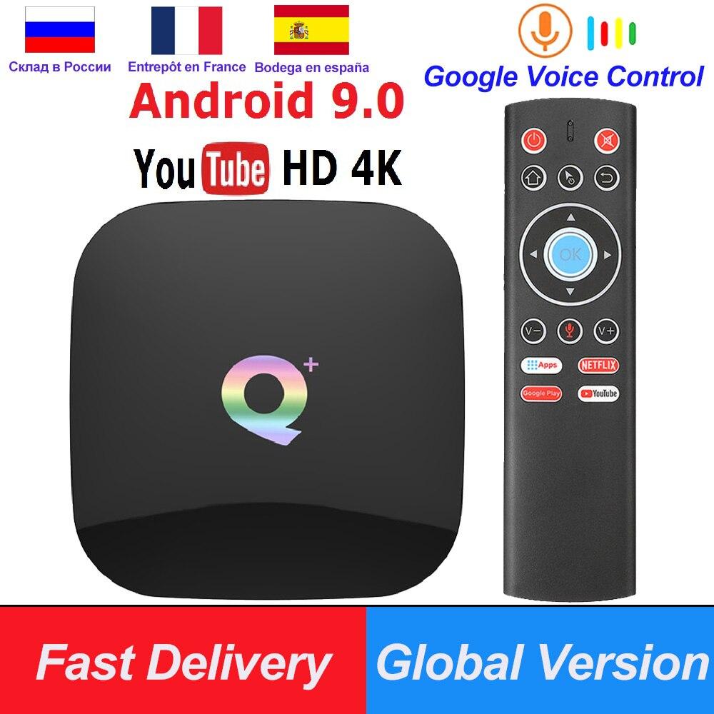 Q Plus Android 9 0 TV Box 6K Smart TV Box 4GB RAM 64GB Allwinner H6 Quad  Core H 265 USD3 0 2 4G Wifi Google Play store Youtube