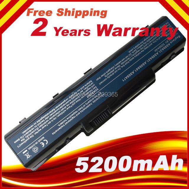 Batería del ordenador portátil EMACHINE E725 E527 E625 E627 G620 G627 G725 D725 D525 E525 AS09A61 AS09A70 AS09A71 AS09A73 AS09A75