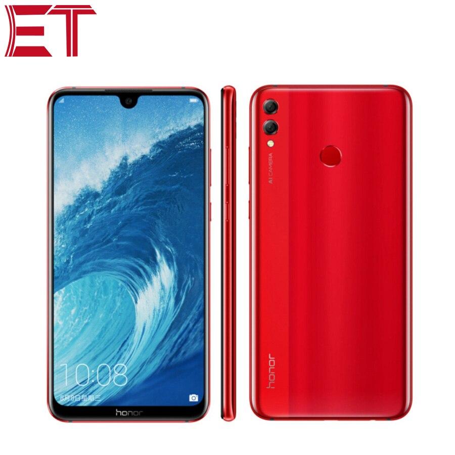 Tout nouveau téléphone Mobile Honor 8X Max 4G LTE 4 GB RAM 128 GB ROM Snapdragon 636 Octa Core Smartphone 5000 mAh batterie 16.0MP + 2.0MP