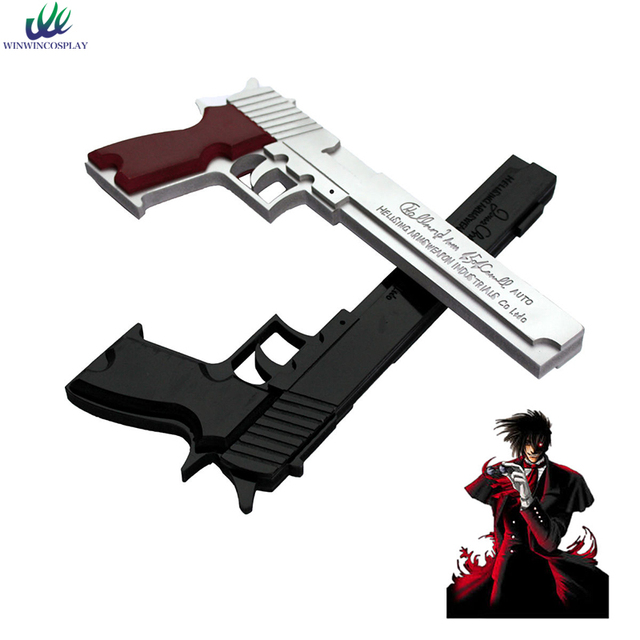 Us 40 0 Top Quality Anime Hellsing Alucard Weapondouble Gun White And Black Weapon Cosplay Props For Party Halloween In Costume Props From Novelty