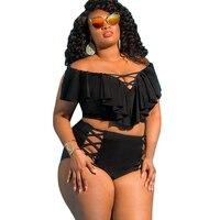 5XL Plus Size Swimsuit Bikini Set For Women 2
