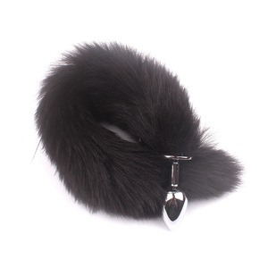 Image 5 - Feather Fox Tail Metal Anal Plug Erotic Accessories Anus Toy Butt Plug Sex Toy For Woman And Men Sexy Butt Plug Adult Accessorie