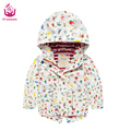 2017 Ucanaan spring  (2-7)Years old baby girls Cartoon white jacket waterproof warm coat fashion style for children
