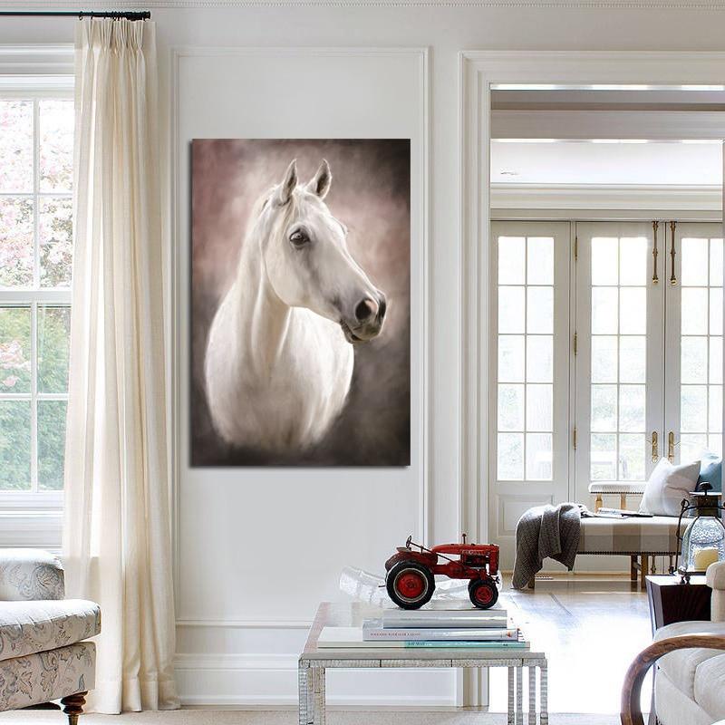 Olejomalba kůň tisknout akvarel obraz bez rámečku plátno obrázek zeď moderní dekorace zvířecí malba umělecká díla dárek