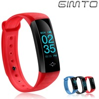 Smart wrist Band Heart rate Blood Pressure Sport Bracelet Watch GIMTO Digital Sleep Tracker Smartwatch For iOS Android